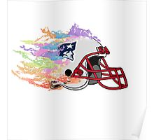 England Patriot With Color Burn Poster
