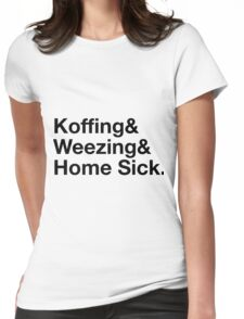 Stylish Pokemon T's | Koffing & Weezing & Home Sick | Black on light Womens Fitted T-Shirt