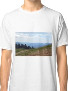 Natural scenery with mountains and cloudy sky. Classic T-Shirt