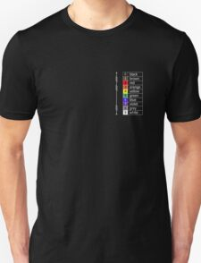 resistor colour codes on black and dark colours Unisex T-Shirt