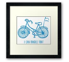 Hipster bicycle - blue Framed Print