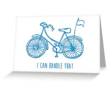 Hipster bicycle - blue Greeting Card