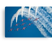 Canadian Forces Snowbirds Canvas Print