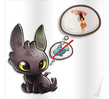 Grow Up Baby Toothless Dragon Poster