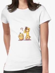 Pocket Monster Fanart Psyduck Cosplay Womens Fitted T-Shirt