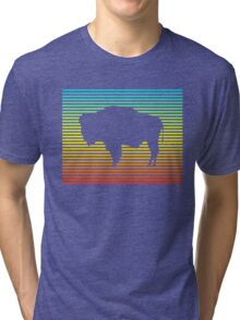 wyoming chill fade Tri-blend T-Shirt