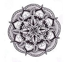 Sacred Floral Mandala Photographic Print