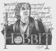 Martin Freeman in The Hobbit Original Pencil Sketch by Skyeblux
