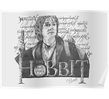 Martin Freeman in The Hobbit Original Pencil Sketch Poster