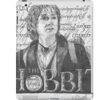 Martin Freeman in The Hobbit Original Pencil Sketch iPad Case/Skin