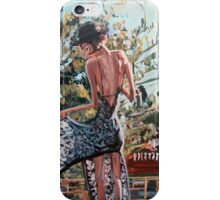 Woman in Summer Dress iPhone Case/Skin