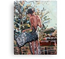 Woman in Summer Dress Canvas Print