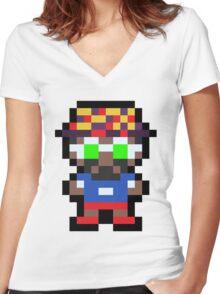 Pixel BD Joe Women's Fitted V-Neck T-Shirt