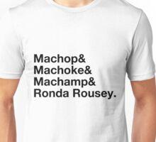 Stylish Pokemon T's | Machop & Machoke & Machamp & Ronda Rousey | Black on Light Unisex T-Shirt