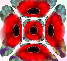 Poppies Warhol Style by HeckaDoodleDo