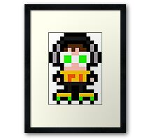Pixel Beat Framed Print