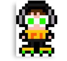 Pixel Beat Canvas Print