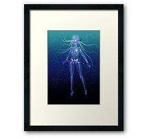 Sparkling Bioluminescent Girl  Framed Print