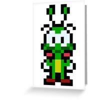 Pixel Bug Greeting Card