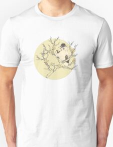 Owl Smoking On The Tree Unisex T-Shirt