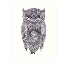 Time Flies With The Owls Art Print