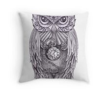 Time Flies With The Owls Throw Pillow