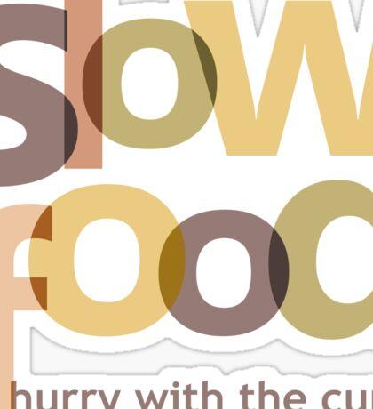 Slow Food Sticker