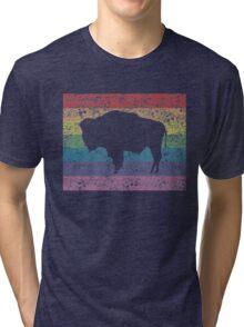 wyoming rainbow Tri-blend T-Shirt