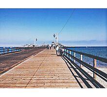 Boardwalk Santa Barbra  Photographic Print