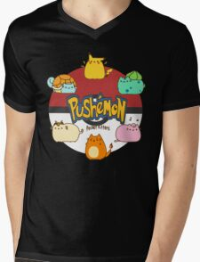 Pushemon Mens V-Neck T-Shirt