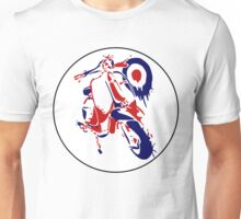 Retro Scooter : Red, White & Blue Unisex T-Shirt