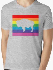 wyoming rainbow Mens V-Neck T-Shirt