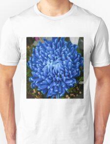 Blue Chrysanthemum Flower T-Shirt