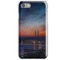 City with stars and nebula. iPhone Case/Skin