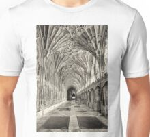 Gloucester Cathedral, Cloisters in July. Unisex T-Shirt