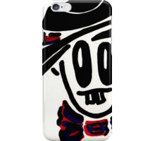 Man with hat and bow tie iPhone Case/Skin