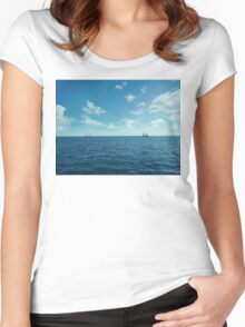 floating 1 Women's Fitted Scoop T-Shirt