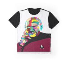 Jean-Luc Picard WPAP (Wedha's Pop Art Portrait) Graphic T-Shirt