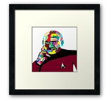 Jean-Luc Picard WPAP (Wedha's Pop Art Portrait) Framed Print