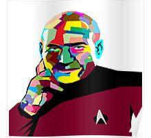 Jean-Luc Picard WPAP (Wedha's Pop Art Portrait) Poster