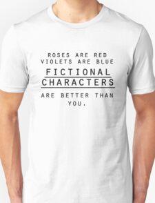 I <3 fictional characters Unisex T-Shirt