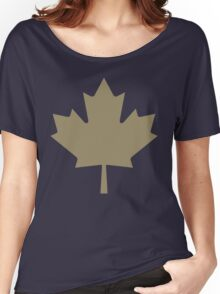 Maple Leaf - Drake Gold Women's Relaxed Fit T-Shirt
