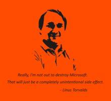 Linux - Linus Torvalds Kids Tee