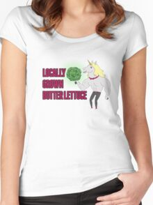 Locally Grown Butter Lettuce Women's Fitted Scoop T-Shirt