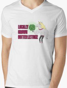Locally Grown Butter Lettuce Mens V-Neck T-Shirt