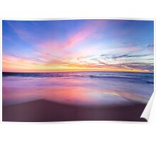 Aussie Sunset Claytons Beach Mindarie Poster