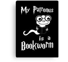 My Patronus Is A Bookworm Canvas Print