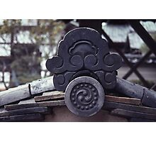 Temple headstone, Kyoto  Photographic Print