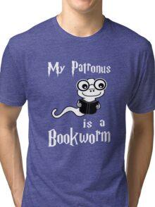 My Patronus Is A Bookworm Tri-blend T-Shirt