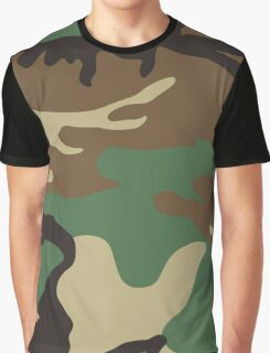 U.S. Woodland Camo Pattern Graphic T-Shirt